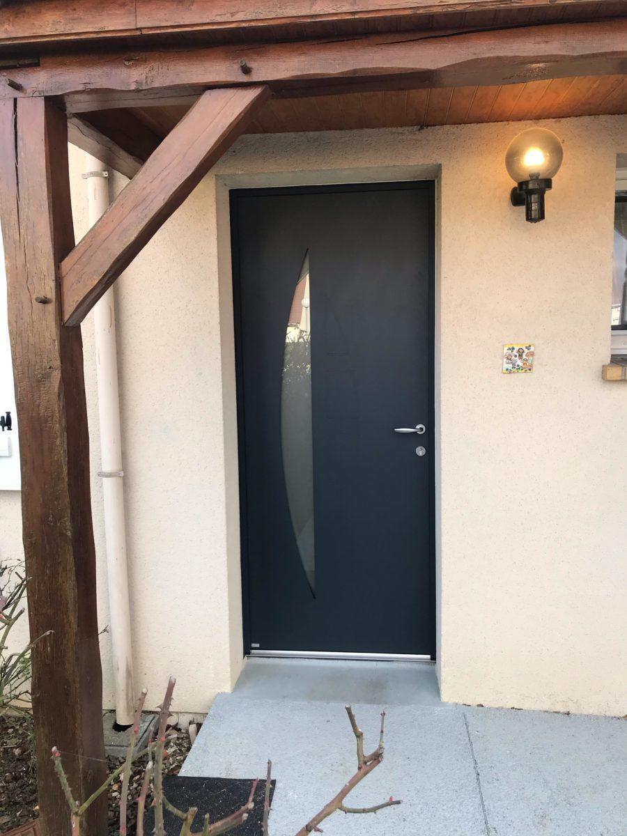 porte d'entrée bicolore